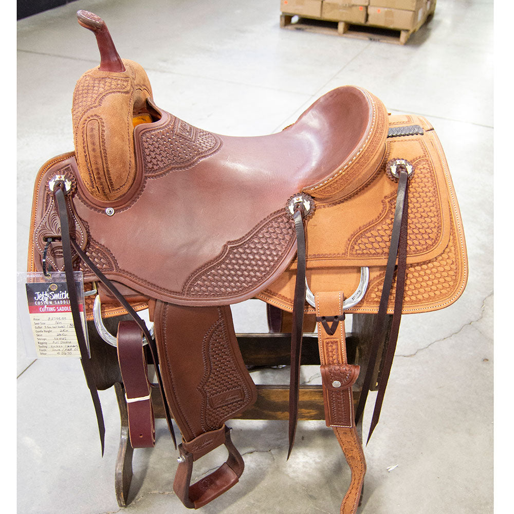 "16"" JEFF SMITH CUTTING SADDLE Saddles - New Saddles - CUTTER Jeff Smith Teskeys"