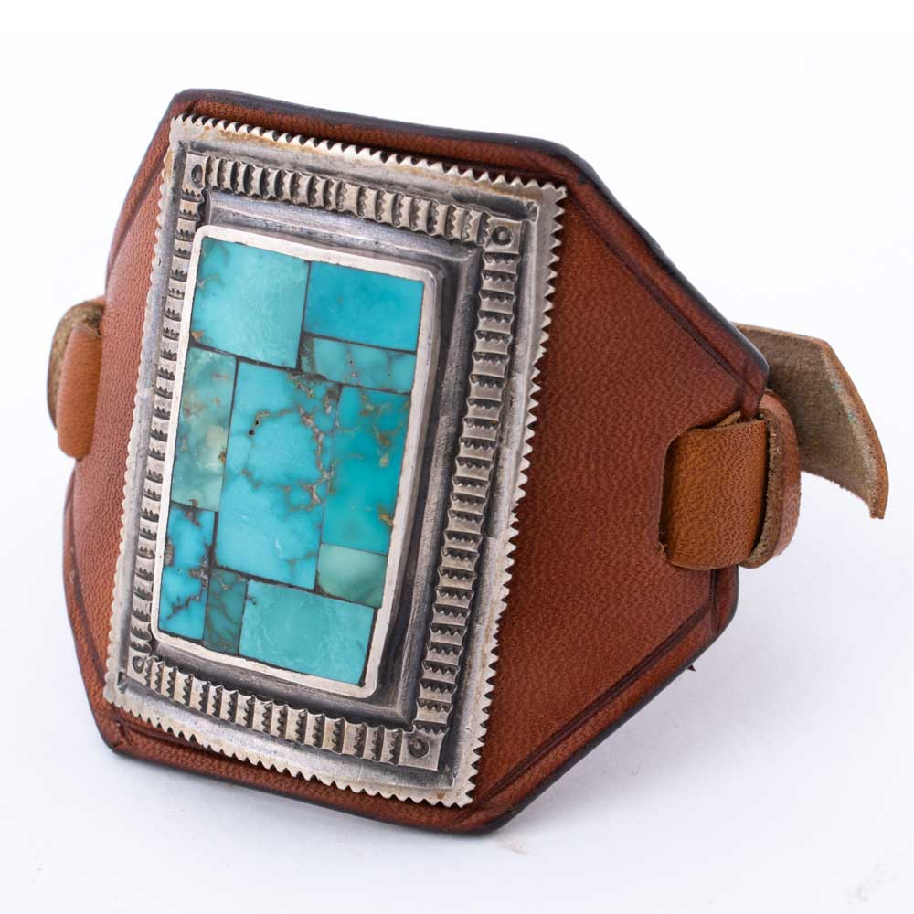 J. Robbins Bowguard Leather & Turquoise Cuff WOMEN - Accessories - Jewelry - Bracelets PEYOTE BIRD DESIGNS Teskeys