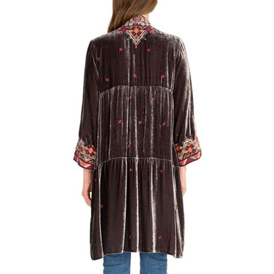Johnny Was Ravi Velvet Tier Duster WOMEN - Clothing - Outerwear - Jackets JOHNNY WAS COLLECTION Teskeys