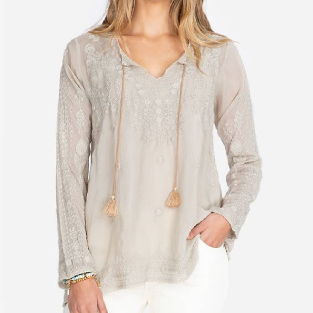 Johnny Was Santorini Tonal Blouse WOMEN - Clothing - Tops - Long Sleeved JOHNNY WAS COLLECTION Teskeys
