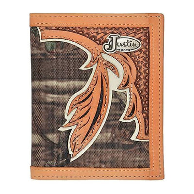 Justin Camo & Leather Medium Bifold Wallet MEN - Accessories - Wallets & Money Clips JUSTIN BOOT CO. Teskeys