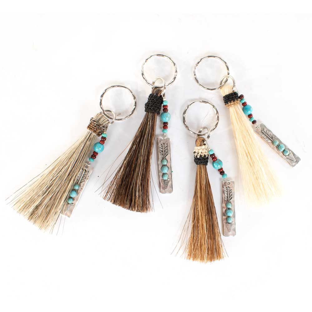 Horsehair Tassel Keychain w/Arrow Charm WOMEN - Accessories - Small Accessories Cowboy Collectibles Teskeys