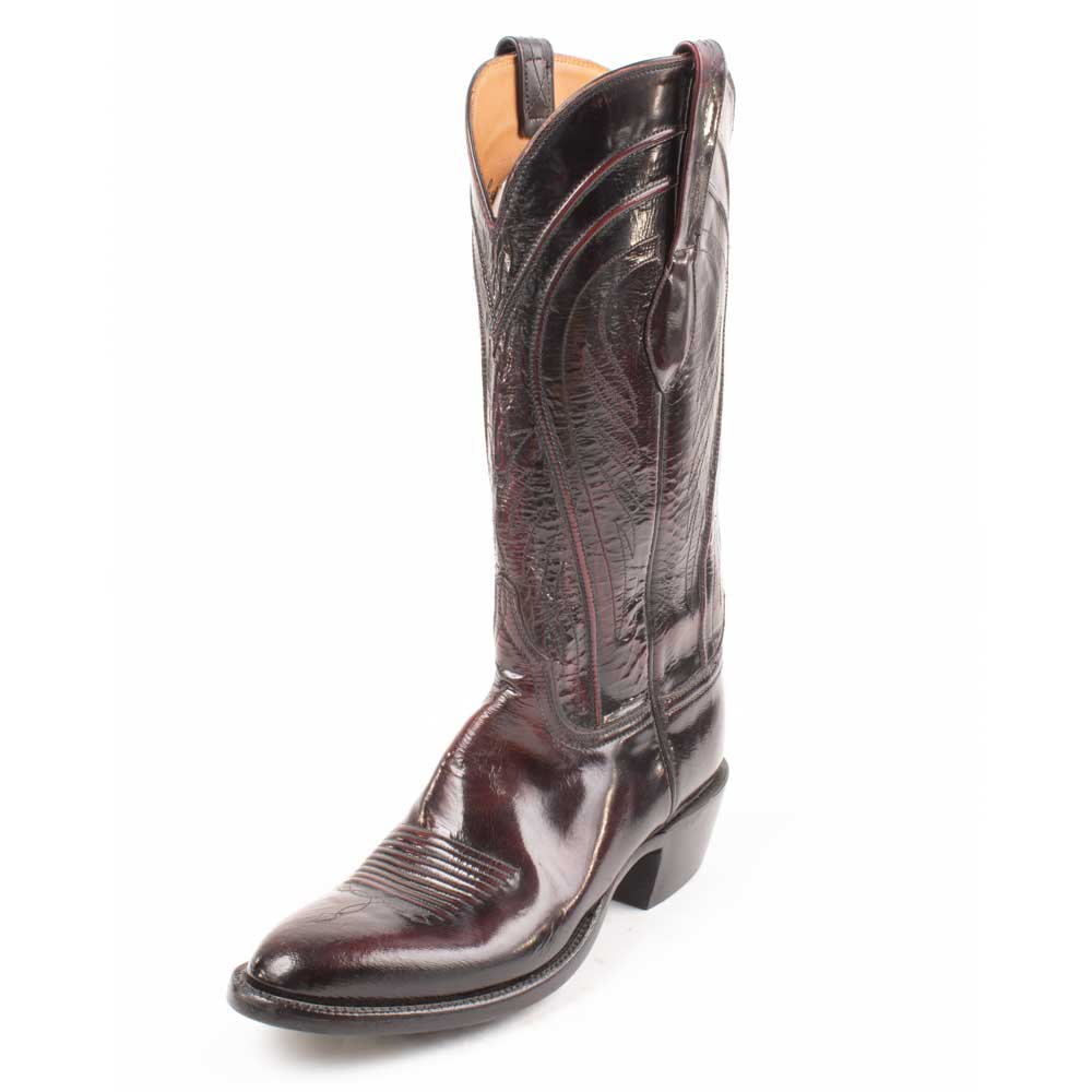 Lucchese Classic Goat Black Cherry - FINAL SALE MEN - Footwear - Western Boots Lucchese Teskeys