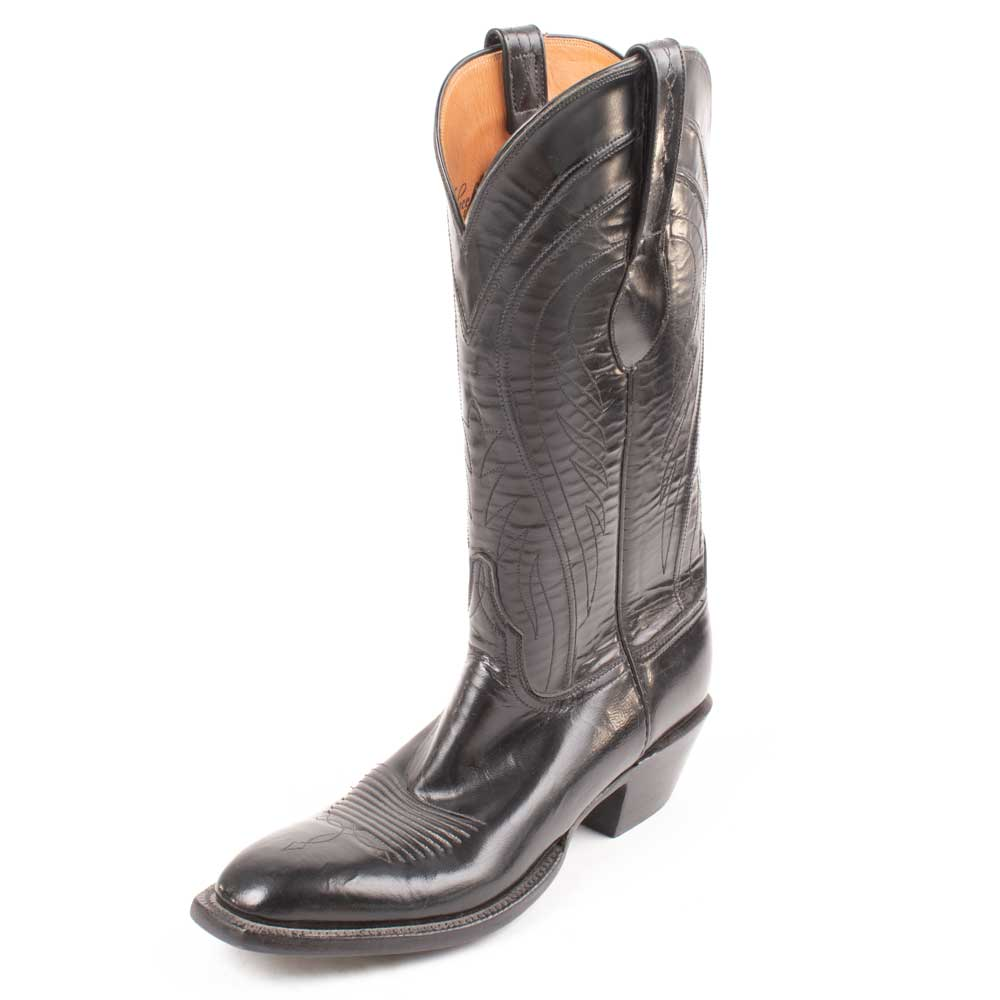 Lucchese Black Goat Men's Boots Size 10AA - FINAL SALE MEN - Footwear - Western Boots LUCCHESE BOOT CO. Teskeys