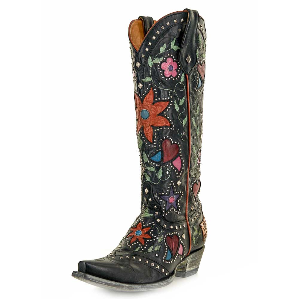 Old Gringo Lovers & Flowers Black Ladies Boots WOMEN - Footwear - Boots - Fashion Boots OLD GRINGO Teskeys