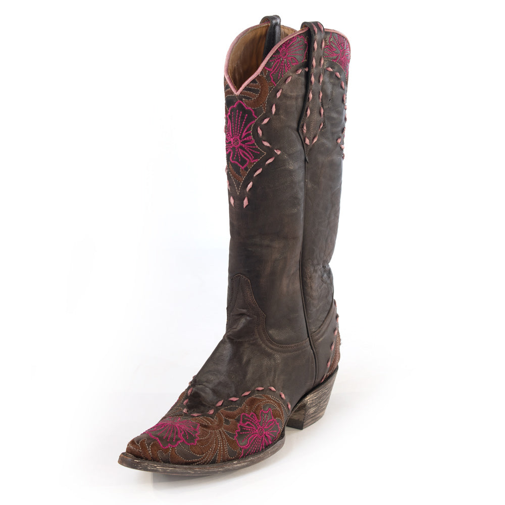 Old Gringo Erin Vesuvio Chocolate/Pink Boots WOMEN - Footwear - Boots - Western Boots OLD GRINGO Teskeys
