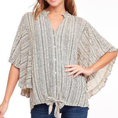 Ruffled Sleeve Blouse WOMEN - Clothing - Tops - Short Sleeved L LOVE, INC Teskeys