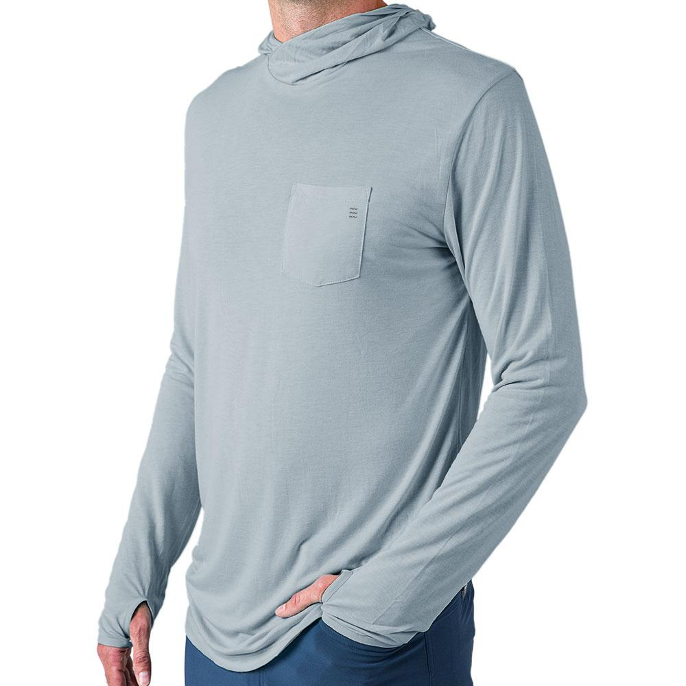 Free Fly Bamboo Lightweight Hoody - Cays Blue MEN - Clothing - Pullovers & Hoodies FREE FLY APPAREL Teskeys
