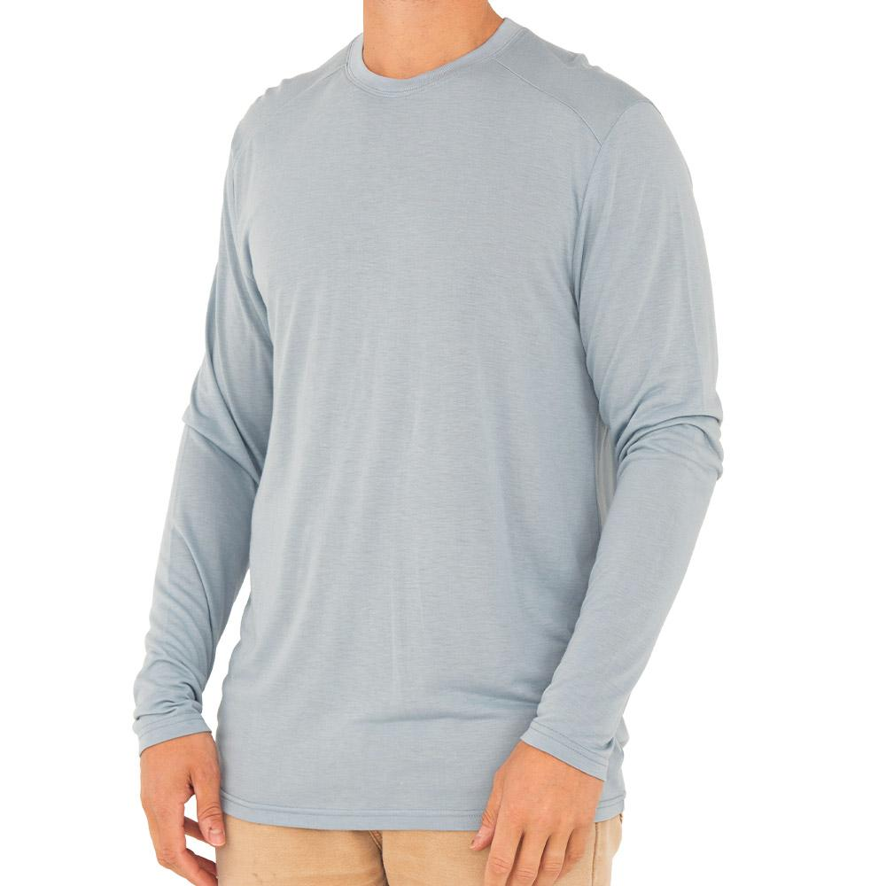 Free Fly Men's Bamboo Lightweight Long Sleeve - Cays Blue MEN - Clothing - T-Shirts & Tanks FREE FLY APPAREL Teskeys
