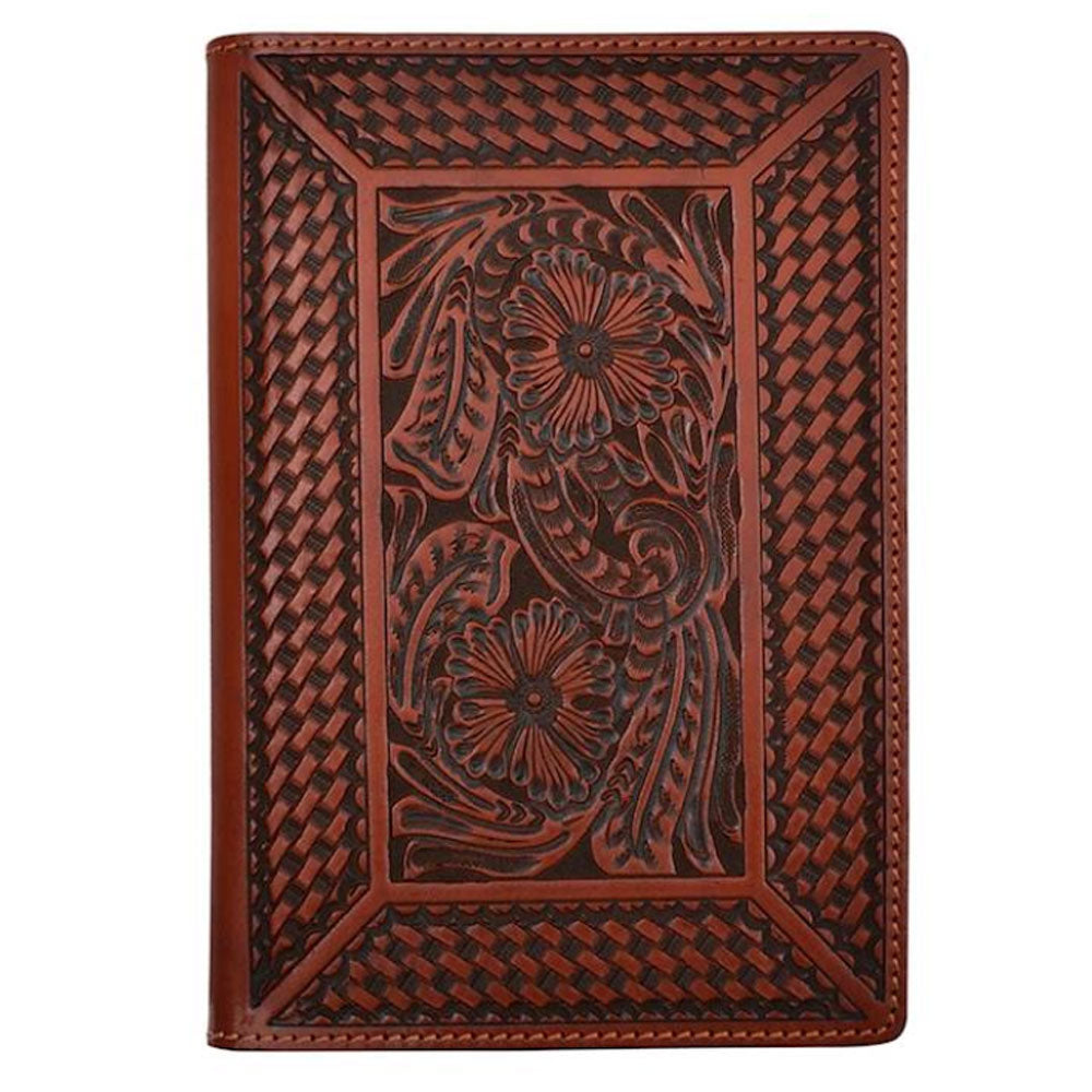 Small Cognac Leather Notepad Holder ACCESSORIES - Additional Accessories - Tech Accessories M&F WESTERN PRODUCTS Teskeys