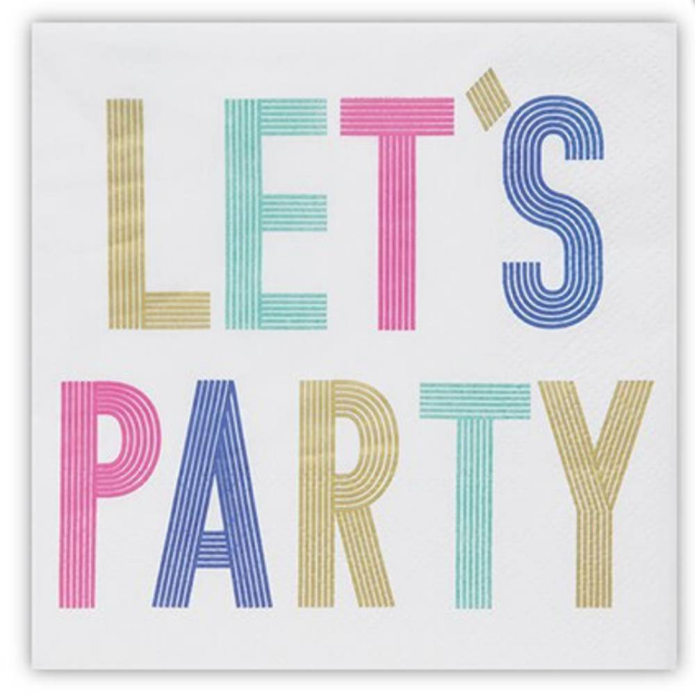 Let's Party Beverage Napkins HOME & GIFTS - Tabletop + Kitchen - Bar Accessories CREATIVE BRANDS Teskeys