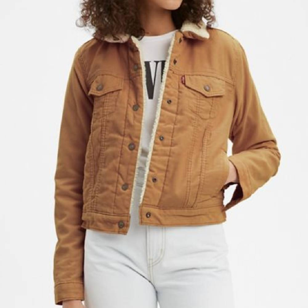Levi's Women's Original Sherpa Trucker Jacket WOMEN - Clothing - Outerwear - Jackets LEVI STRAUSS & CO Teskeys