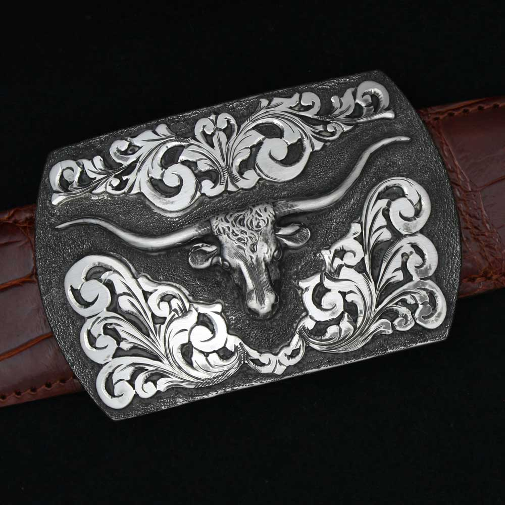 Comstock Heritage Signature Longhorn Buckle ACCESSORIES - Additional Accessories - Buckles COMSTOCK HERITAGE Teskeys