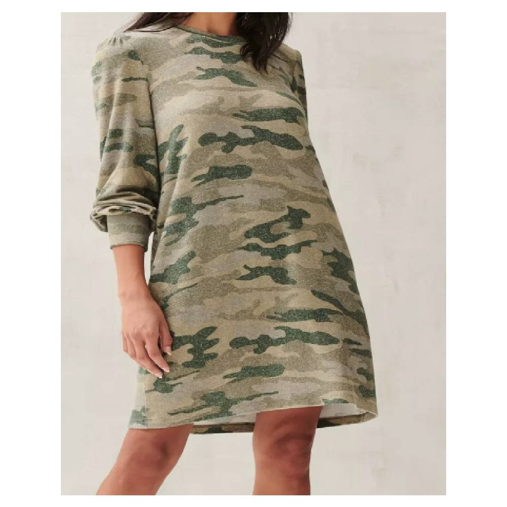 Lucky Brand Knit Green Camo Dress WOMEN - Clothing - Dresses LUCKY BRAND JEANS Teskeys