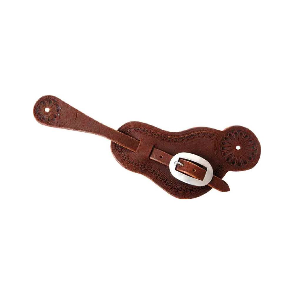 Martin Buckaroo Chocolate Roughout Leather Spur Straps Tack - Bits, Spurs & Curbs - Spur Straps Martin Saddlery Teskeys