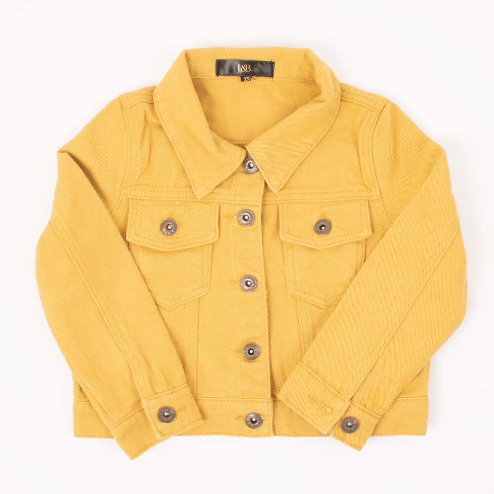 Girl's Mustard Denim Jacket KIDS - Girls - Clothing - Outerwear - Jackets Lucky & Blessed Teskeys
