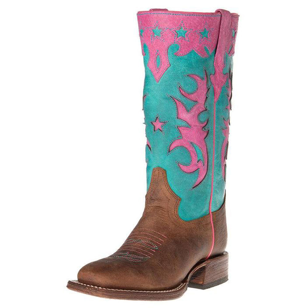 Kid's Macie Bean Bone Mad Dog Turquoise Sinsation Cowboy Boots KIDS - Footwear - Boots Teskeys Teskeys