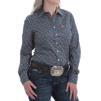 Cinch Women's Floral Paisley Print Button-Down Western Shirt WOMEN - Clothing - Tops - Long Sleeved CINCH Teskeys