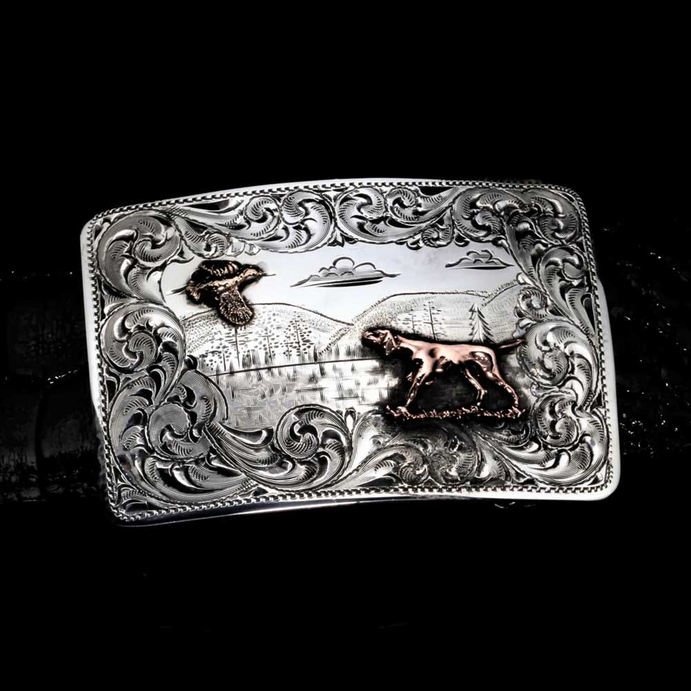 Comstock Heritage Mesa Quail Hunt Buckle ACCESSORIES - Additional Accessories - Buckles COMSTOCK HERITAGE Teskeys
