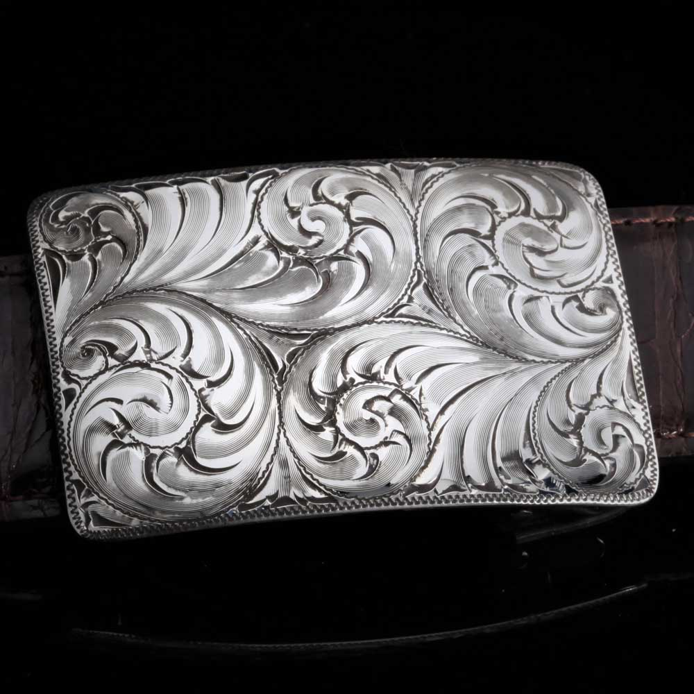 Comstock Heritage Sterling SIlver Mesa Scroll Buckle ACCESSORIES - Additional Accessories - Buckles COMSTOCK HERITAGE Teskeys