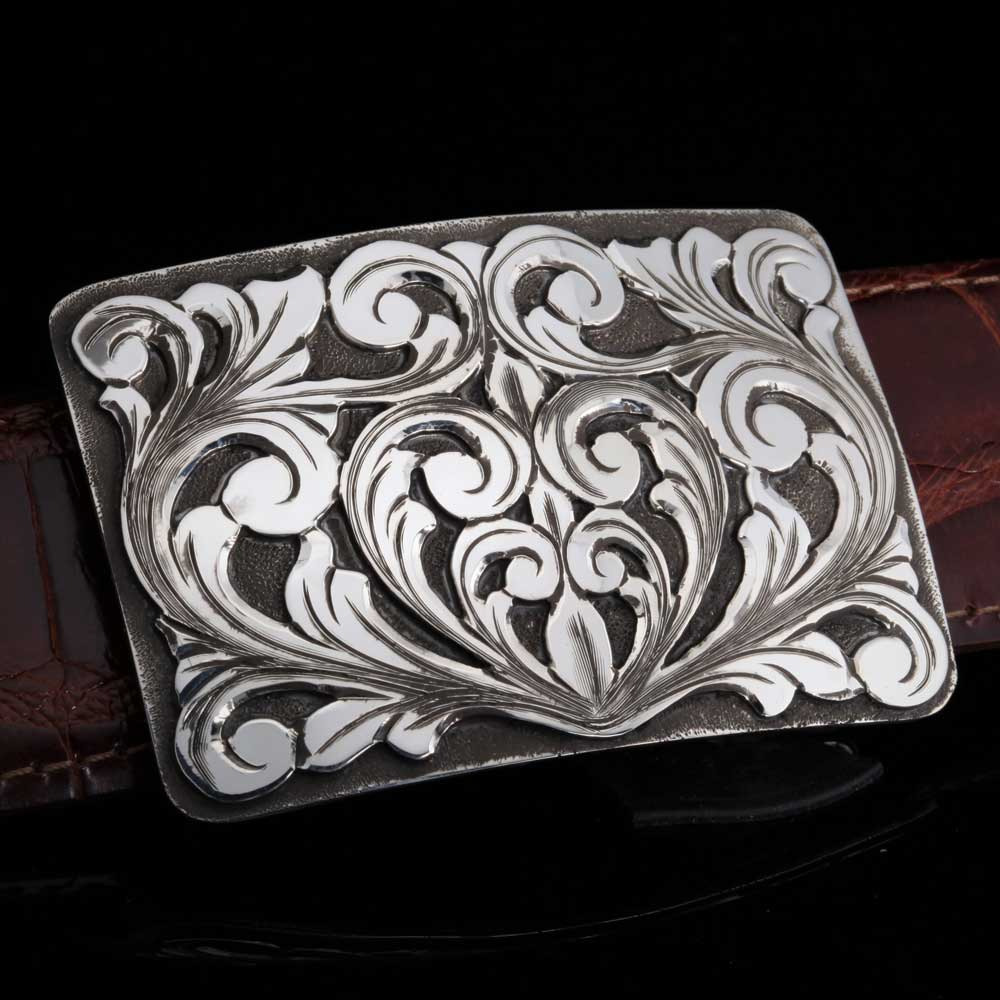 Comstock Heritage Sterling Silver Mesa Swirl Buckle ACCESSORIES - Additional Accessories - Buckles COMSTOCK HERITAGE Teskeys
