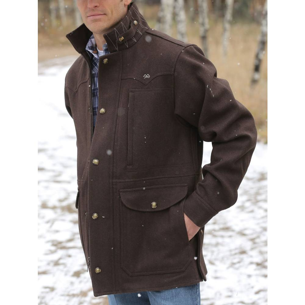 Miller Ranch Melton Wool Coat MEN - Clothing - Outerwear - Jackets MILLER RANCH Teskeys