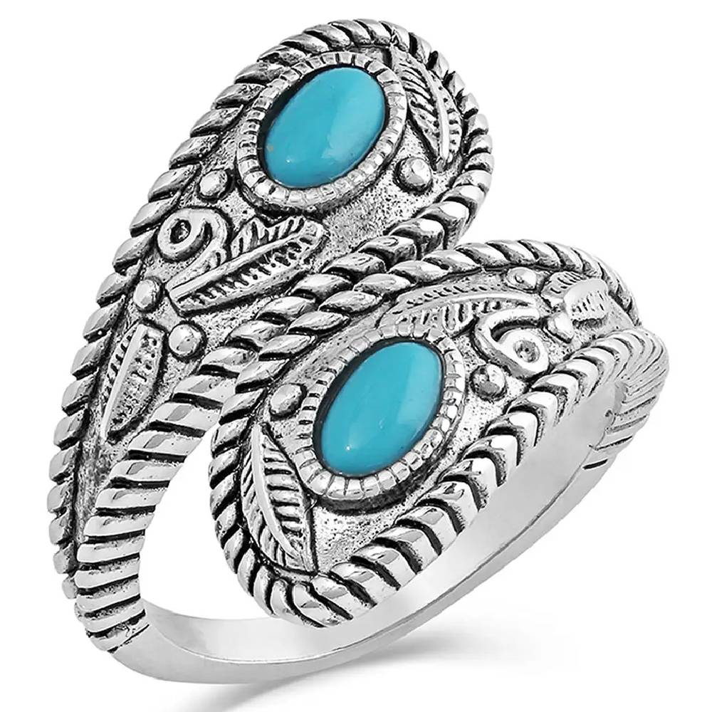 Montana Silversmiths Balancing The Whole Turquoise Open Ring WOMEN - Accessories - Jewelry - Rings Montana Silversmiths Teskeys