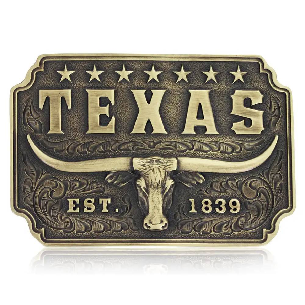 Montana Silversmiths Classic Texas Longhorn Attitude Buckle ACCESSORIES - Additional Accessories - Buckles Montana Silversmiths Teskeys
