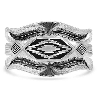 Montana Silversmiths Courage & Strength Feather Cut-Out Cuff Bracelet WOMEN - Accessories - Jewelry - Bracelets Montana Silversmiths Teskeys