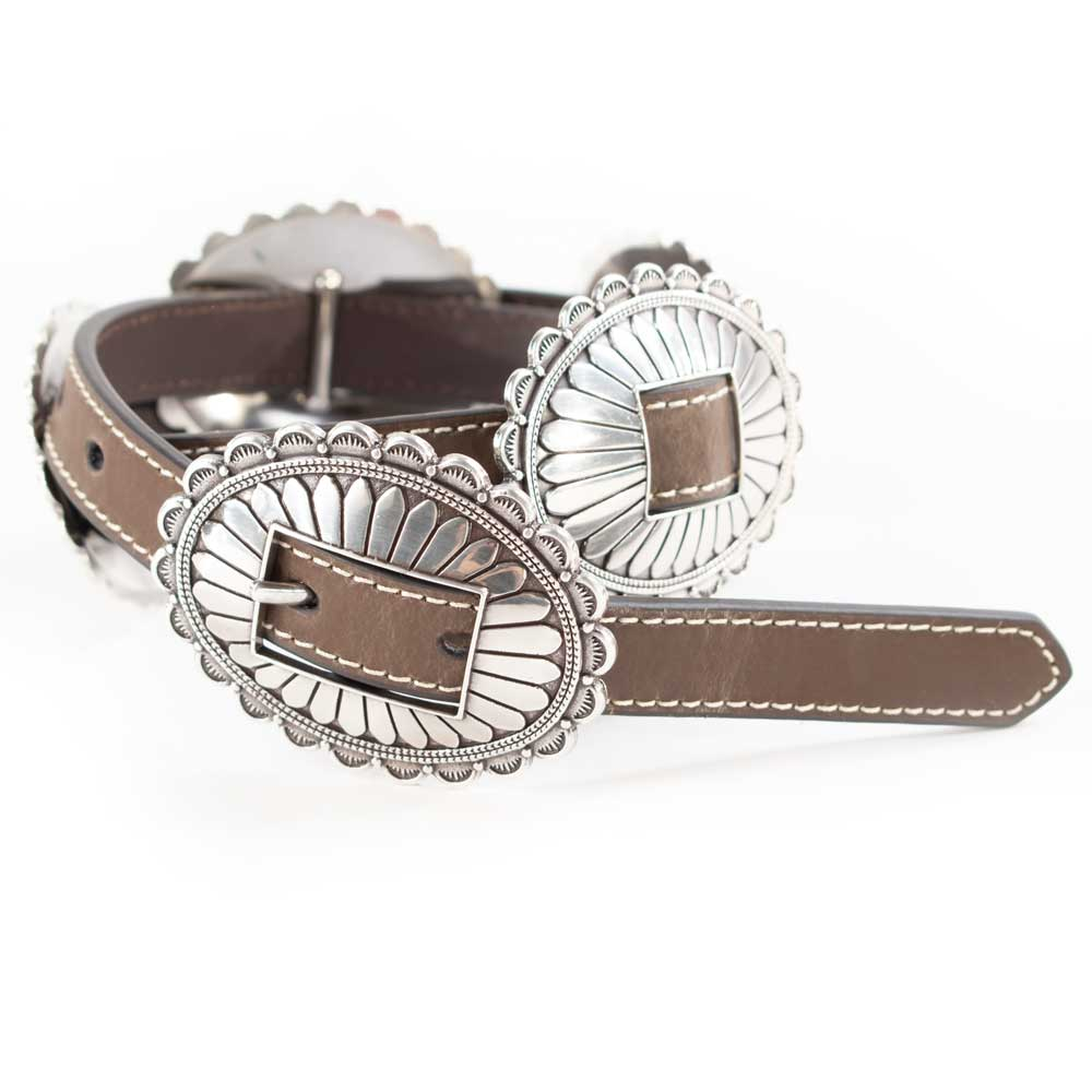 Nocona Large Oval Concho Buckle Belt WOMEN - Accessories - Belts Teskeys Teskeys