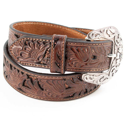 Nocona Women's  Floral Tooled Belt WOMEN - Accessories - Belts M&F Western Products Teskeys