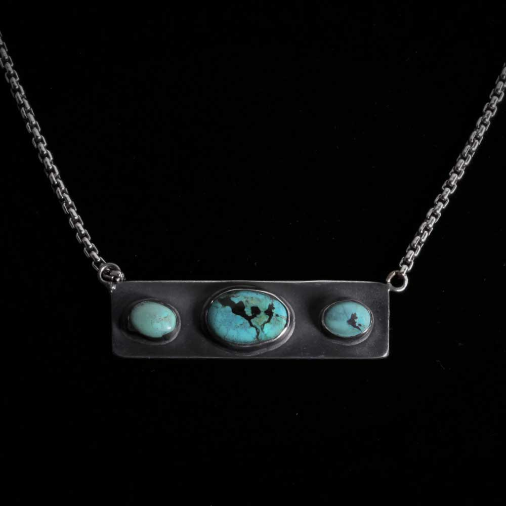 Comstock Heritage American Turquoise Dog Tag Necklace WOMEN - Accessories - Jewelry - Necklaces COMSTOCK HERITAGE Teskeys