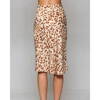 Leopard Midi Skirt WOMEN - Clothing - Skirts BY TOGETHER Teskeys