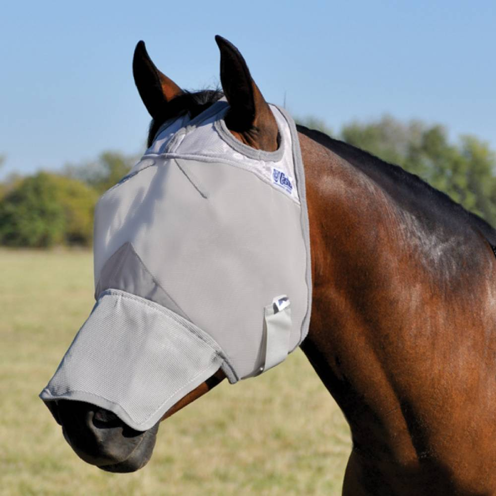 Cashel Long Nose Crusader Fly Mask Farm & Ranch - Animal Care - Equine - Fly & Insect Control Cashel Teskeys