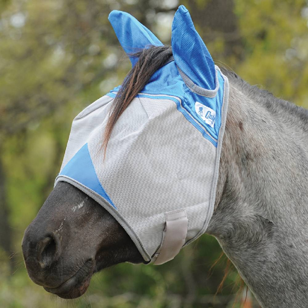 Cashel Crusader Charity Fly Mask With Ears Farm & Ranch - Animal Care - Livestock - Fly & Insect Control Cashel Teskeys