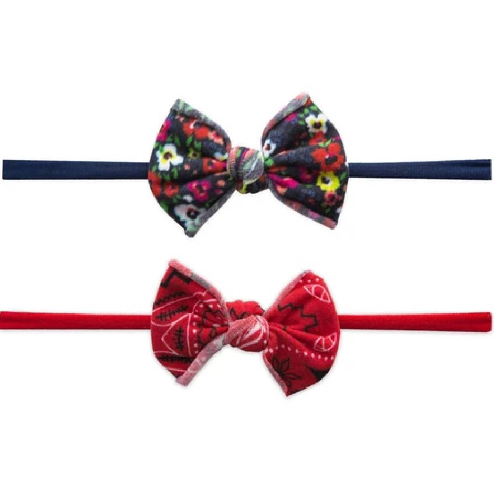 Baby Bling Mini Print Skinny Headband - 2 pack ACCESSORIES BABY BLING BOWS Teskeys