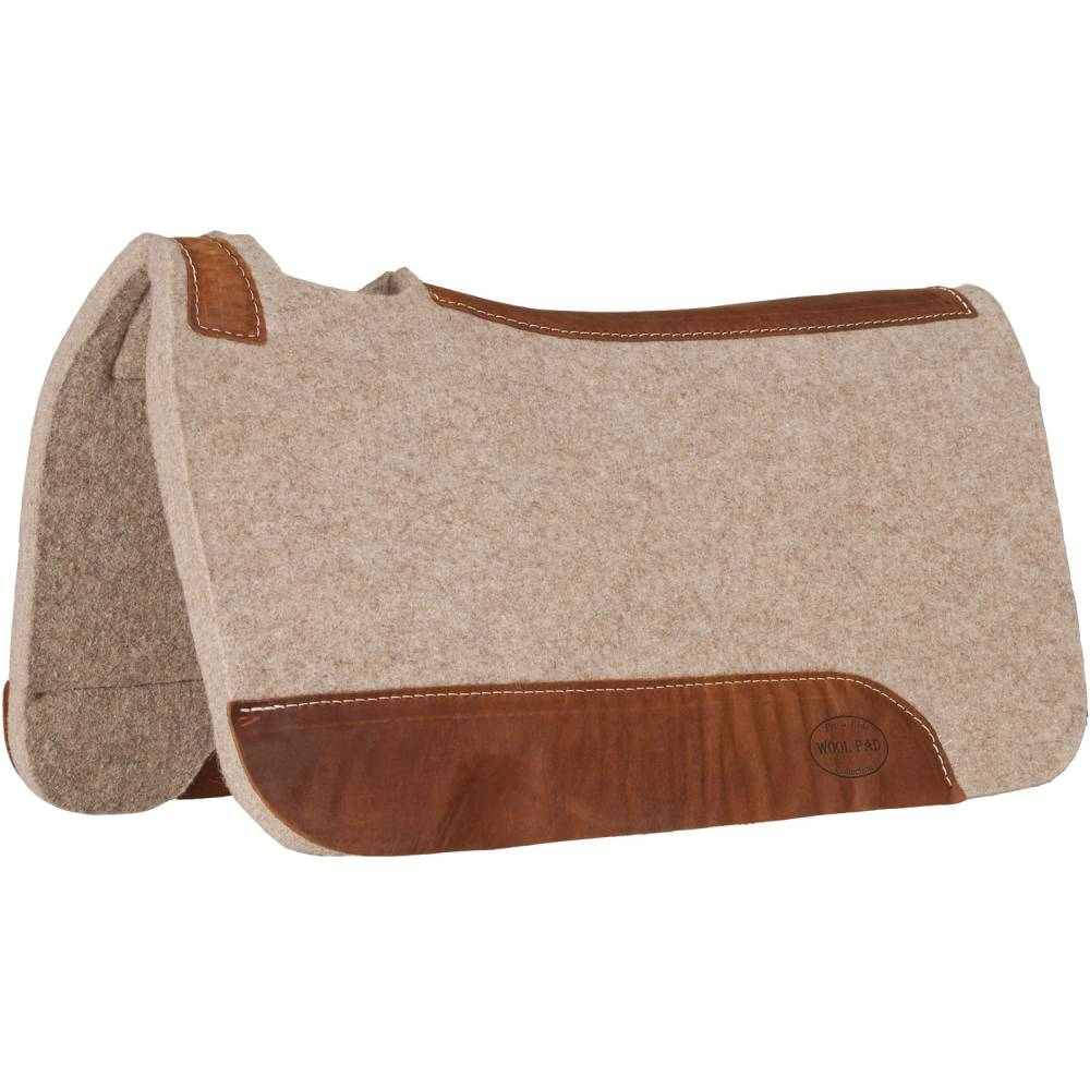 Tan Wool Contoured Pad Tack - Saddle Pads Teskey's Teskeys