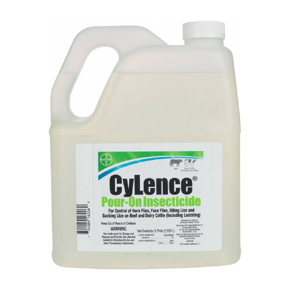 CyLence Pour On Fly Repellent Farm & Ranch - Animal Care - Livestock - Fly & Insect Control Bayer Teskeys
