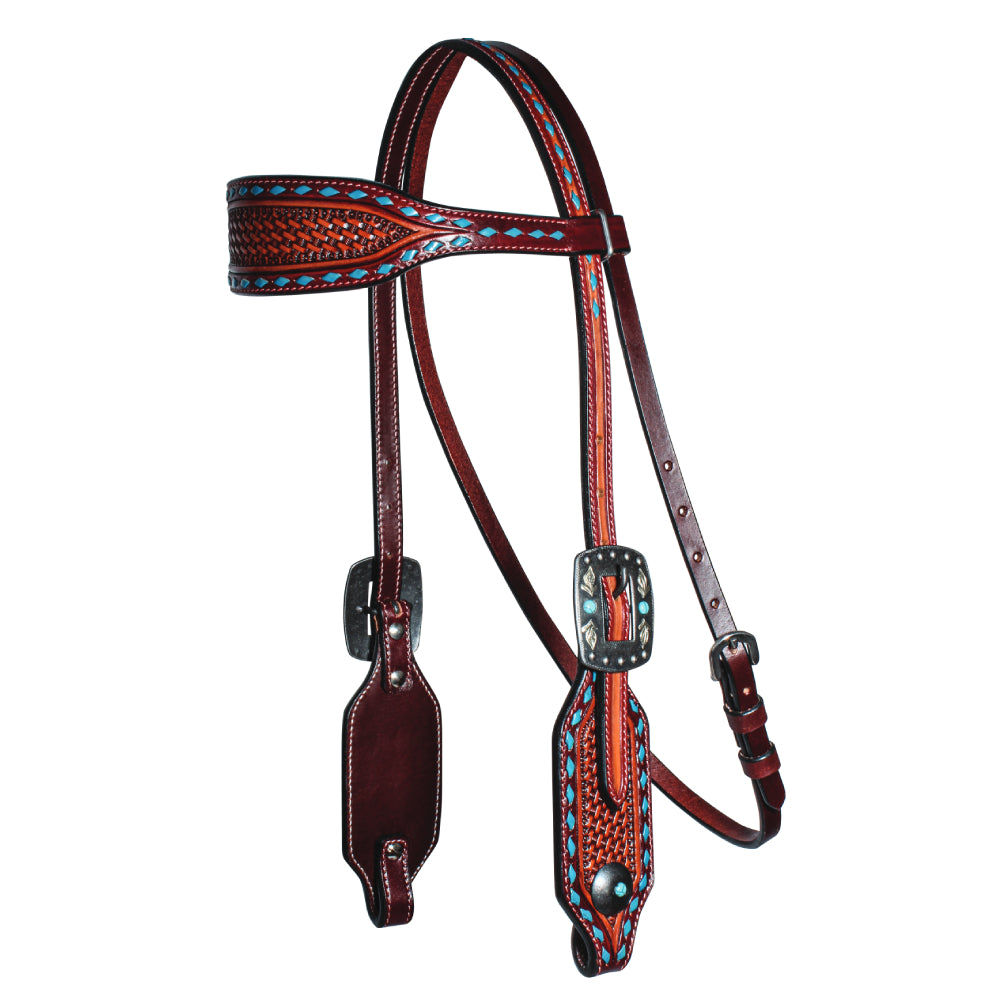 Professional's Choice Basket Weave Collection Browband Headstall Tack - Headstalls - Browband Professional's Choice Teskeys