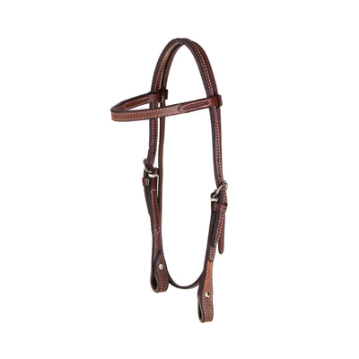 Teskey's 3/4 Basket Stamped Browband Headstall Tack - Headstalls - Browband Teskey's Teskeys