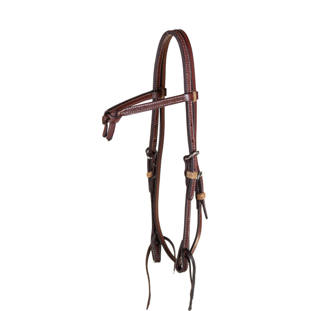 Teskey's Barbwire Crossover Browband Headstall Tack - Headstalls - Browband Professional's Choice Teskeys