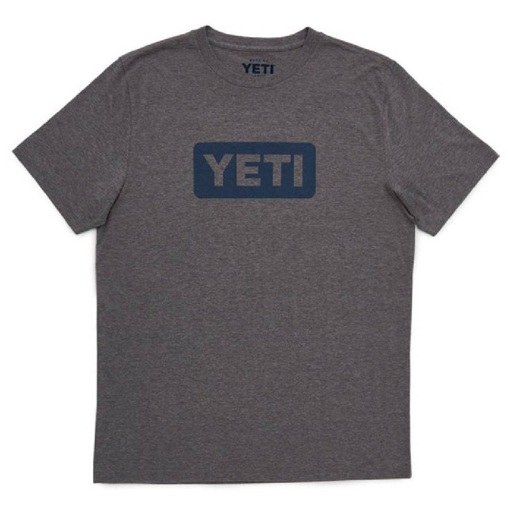 Yeti Logo Badge Tee - Gray MEN - Clothing - T-Shirts & Tanks YETI Teskeys