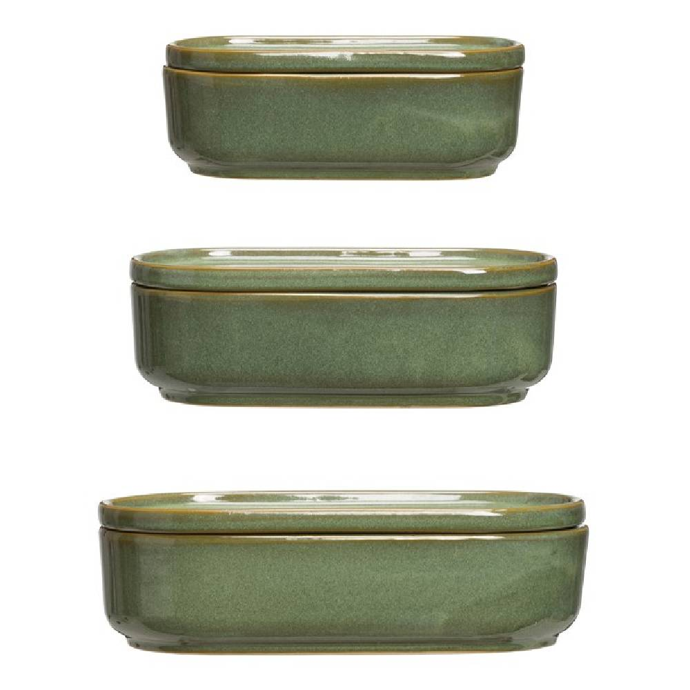 Stoneware Container Home & Gifts - Home Decor - Decorative Accents Creative Co-Op Teskeys