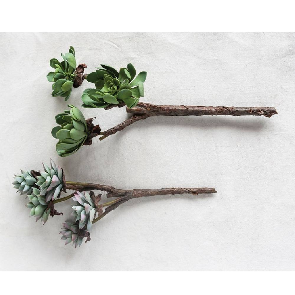 Faux Succulent Branch Home & Gifts - Home Decor - Faux Flowers + Plants Creative Co-Op Teskeys