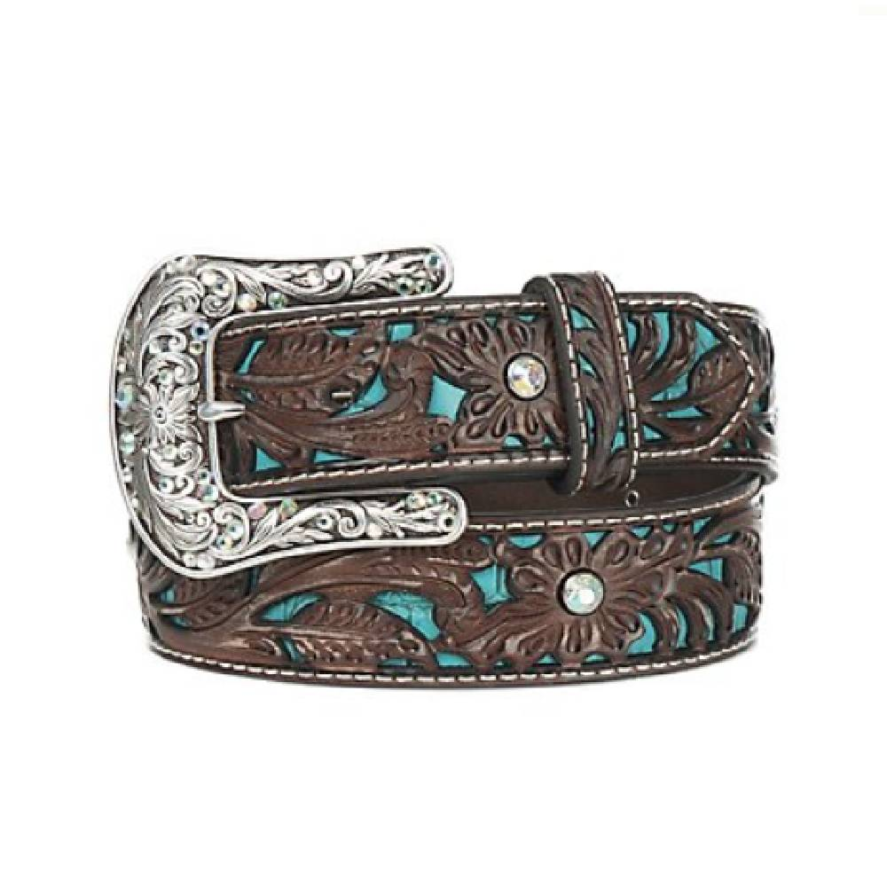 Ariat Women's Tooled Turquoise Inlay Belt WOMEN - Accessories - Belts M&F Western Products Teskeys