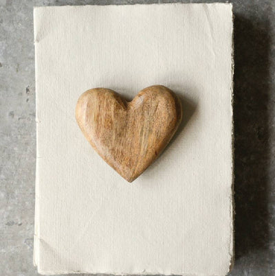 Hand-Carved Mango Wood Heart HOME & GIFTS - Gifts Creative Co-Op Teskeys