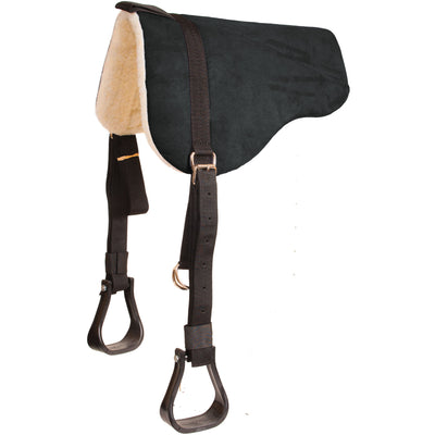 Faux Suede Bareback Pad With Stirrups Tack - Saddle Pads Mustang Teskeys