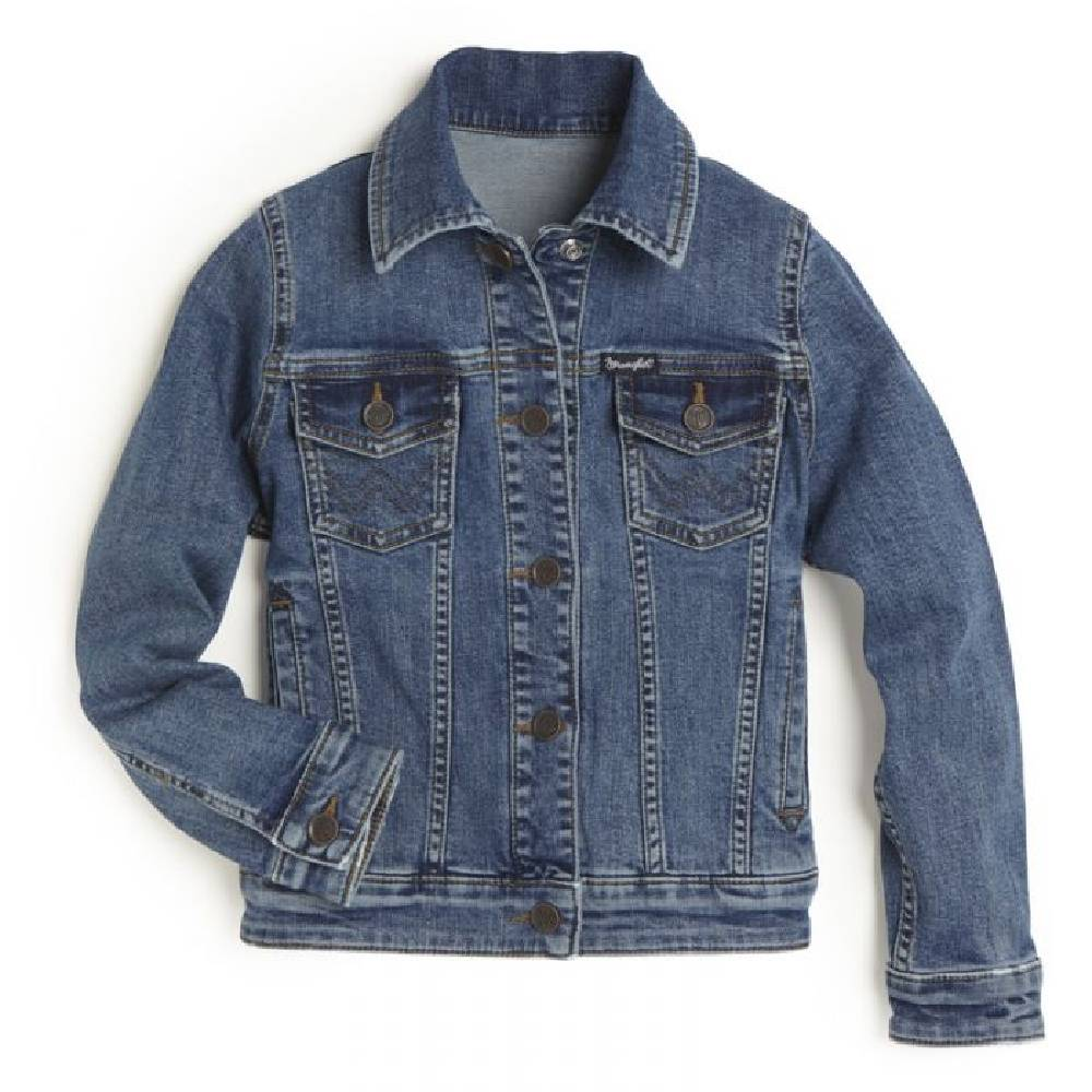 Wrangler Girl's Denim Trucker Jacket KIDS - Girls - Clothing - Outerwear - Jackets WRANGLER Teskeys