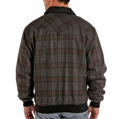 Powder River Wool Plaid Bomber Jacket MEN - Clothing - Outerwear - Jackets Panhandle Teskeys
