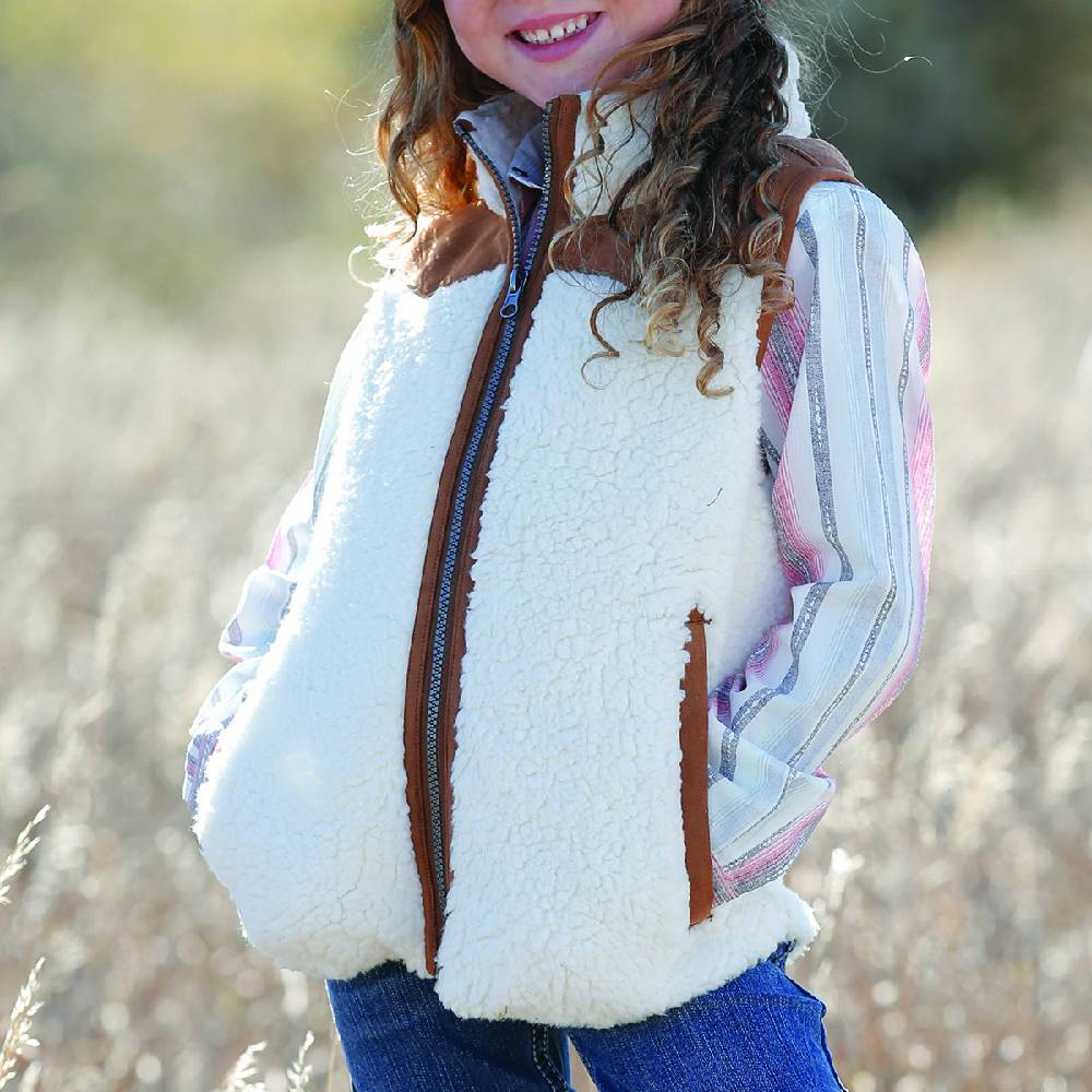 Cruel Girls Sherpa Vest KIDS - Girls - Clothing - Outerwear - Vests CINCH Teskeys